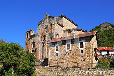 Siresa romanesque monastery in Huesca Aragon