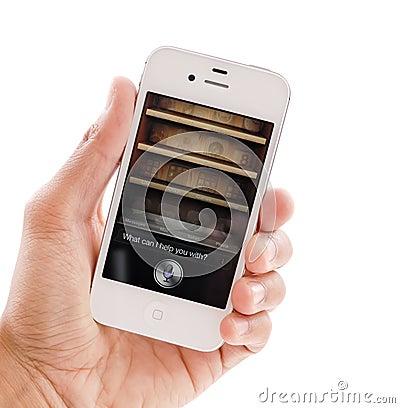 Siri On IPhone 4s Editorial Image