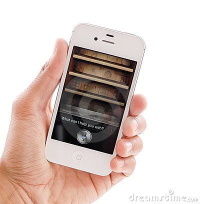 Free Siri On IPhone 4s Royalty Free Stock Photo - 21961125