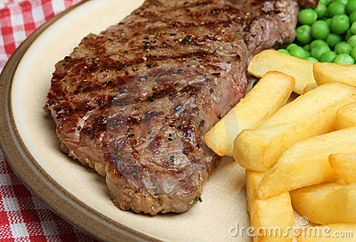 Sirloin Beef Steak & Chips Meal