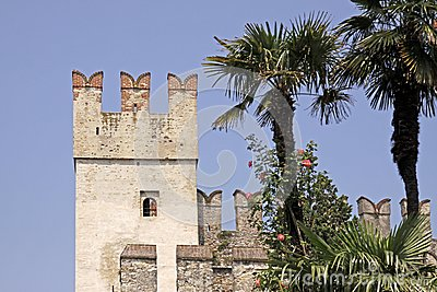 Sirmione, Scaliger castle, Lake Garda, Italy