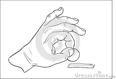 Sirve la mano que pone la moneda en moneybox.
