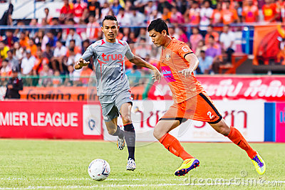 SISAKET THAILAND-JUNE 29: Chatchai Mokkasem of Sisaket FC. Editorial Image