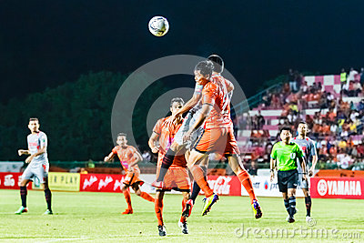 SISAKET THAILAND-JUNE 29: Chatchai Mokkasem of Sisaket FC. Editorial Stock Photo