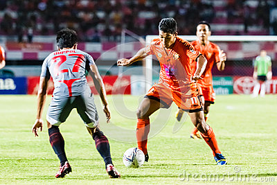 SISAKET THAILAND-JUNE 29: Eakkapan Nuikhao of Sisaket FC. Editorial Stock Image