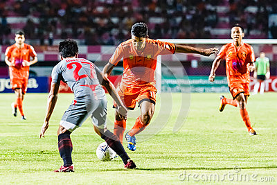 SISAKET THAILAND-JUNE 29: Eakkapan Nuikhao of Sisaket FC. Editorial Photography