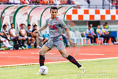 SISAKET THAILAND-JUNE 29: Ekkachai Sumrei of Bangkok Utd. Editorial Photography