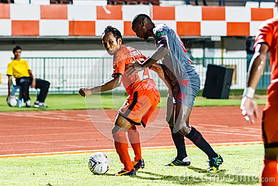 SISAKET THAILAND-JUNE 29: Jirawat Daokhao of Sisaket FC. (orange Editorial Photography