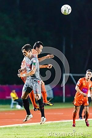 SISAKET THAILAND-JUNE 29: Jirawat Daokhao of Sisaket FC. (orange Editorial Stock Photo