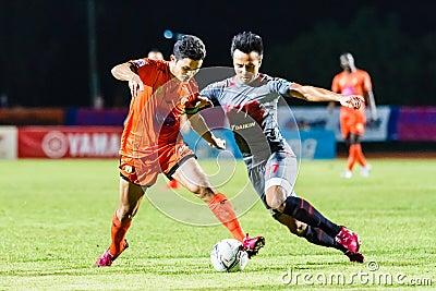 SISAKET THAILAND-JUNE 29: Sarayuth Chaikamdee of Sisaket FC. Editorial Photo