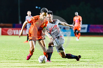 SISAKET THAILAND-JUNE 29: Sarayuth Chaikamdee of Sisaket FC. Editorial Photo