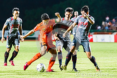SISAKET THAILAND-JUNE 29: Sarayuth Chaikamdee of Sisaket FC. Editorial Photography