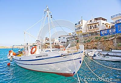 Sissi harbor Crete. Editorial Image