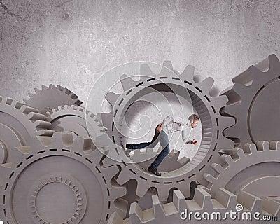 Sistema del meccanismo di affari