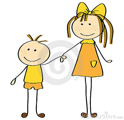 Annoying Little Brother Clipart
