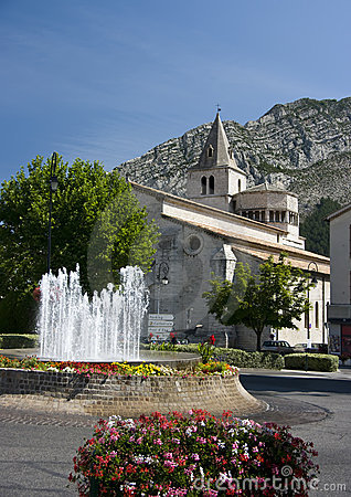 Sisteron cathedral, France