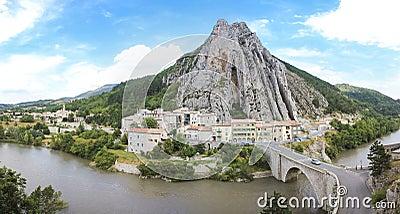 Sisteron river durance route napoleon france