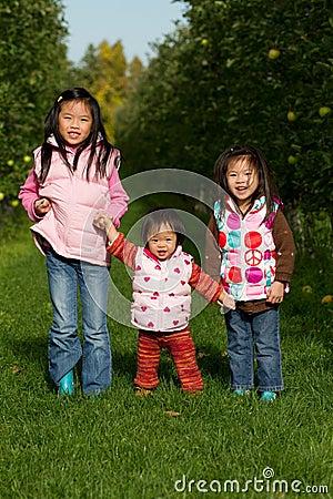 Sisters Apple Picking