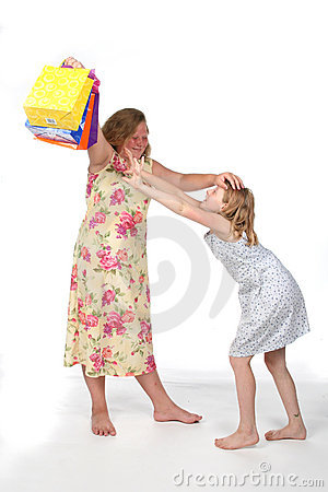 Free Sisters Fighting Over Ball Royalty Free Stock Images - 5885399