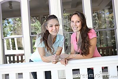 Sisters Having Fun at Home