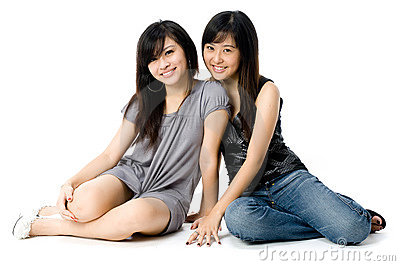 Sisters Sitting