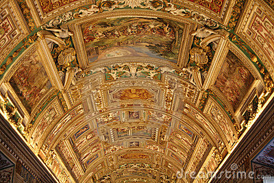 Sistine Chapel s Map Room Editorial Photo