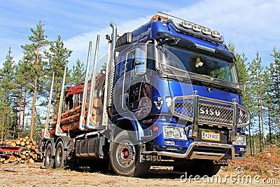 Sisu Polar Logging Truck Editorial Image