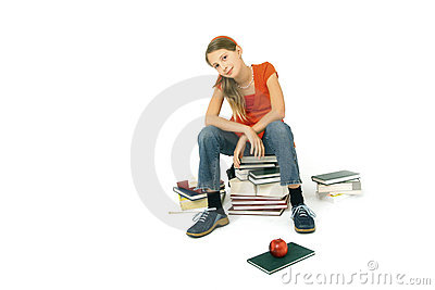 Sit on books