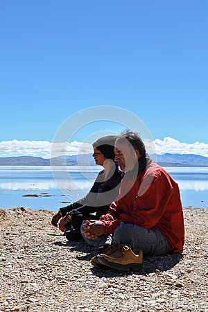 Sit for meditation Editorial Stock Photo