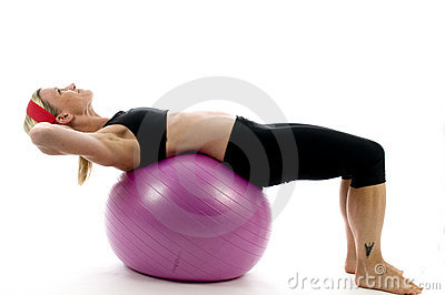 sit ups pose middle age woman   fitness co