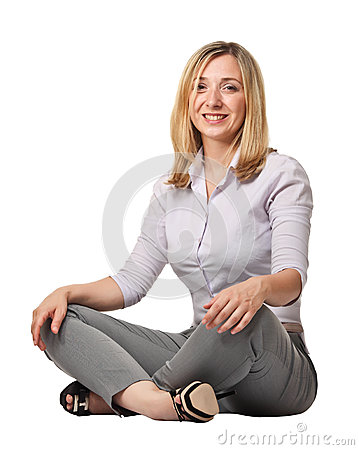 Sit woman portrait