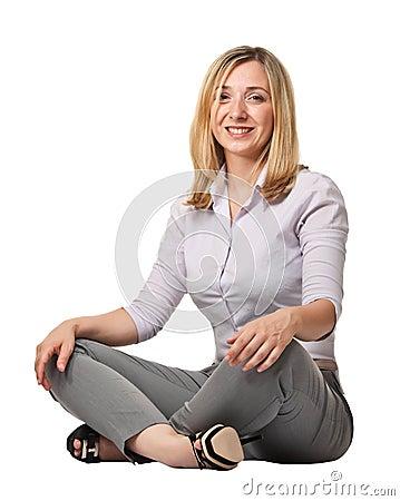 Sit woman portrait