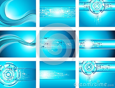 Site blue wave and arrow background collection