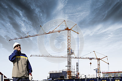 Site engineer and construction