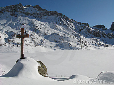 Site of the lake of allos , france