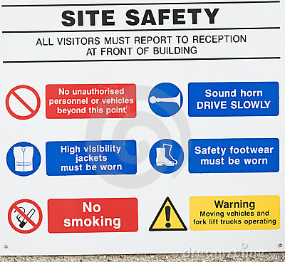 Free Site Safety: Do S And Don Ts. Royalty Free Stock Photography - 18637707