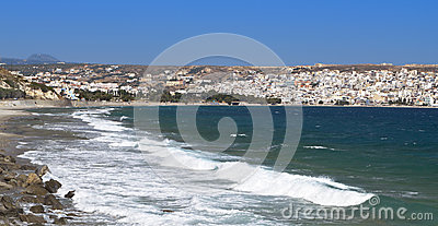 Sitia city and beach at Crete island