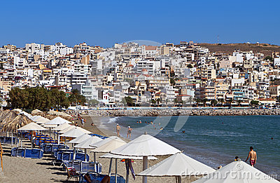 Sitia city at Crete island, Greece