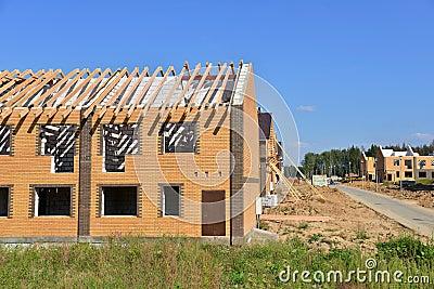 Sito in costruzione del mattone con la pietra e il concret for Software di pianificazione del sito di costruzione