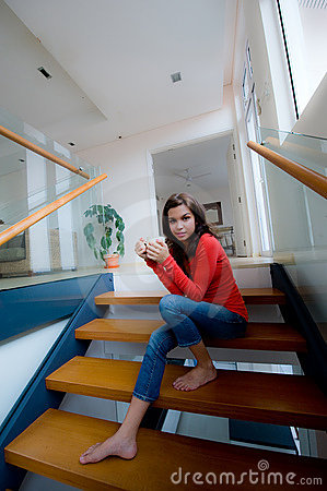 Sittande trappa