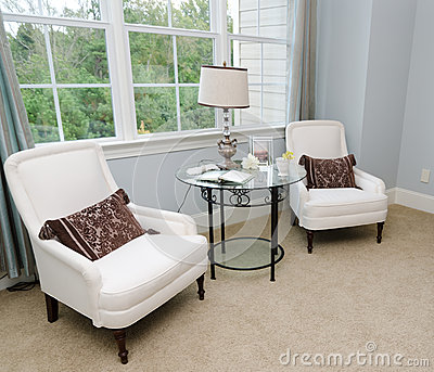 Sitting area in house bedroom