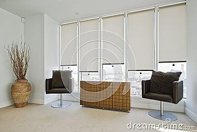Sitting area in a modern bedroom