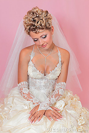 Sitting beauty bride
