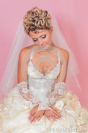 Sitting beauty bride