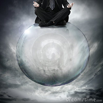 Sitting on bubble