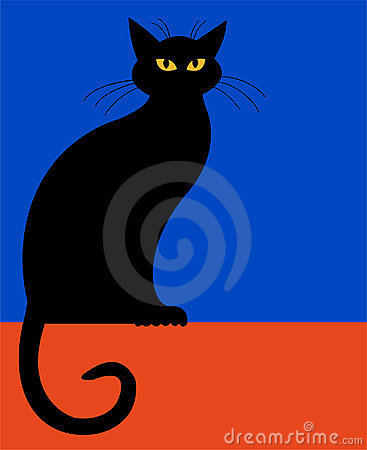 Free Sitting Cat Silhouette/eps Royalty Free Stock Photo - 2842105