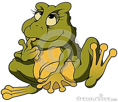 Sitting Frog Binky