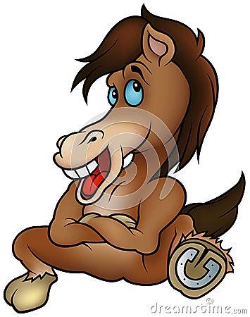 Free Sitting Horse Royalty Free Stock Photo - 12622025