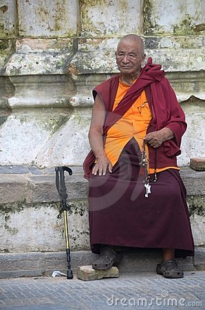 Sitting monk Editorial Image
