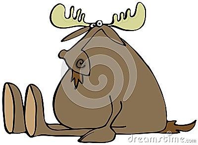 Sitting moose